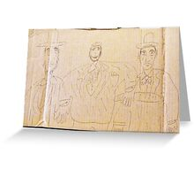 fAT mAN iN tHE mIDDLE (DRAWING ON cARDBOARD) Greeting Card
