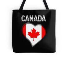 Canada - Canadian Flag Heart & Text - Metallic Tote Bag