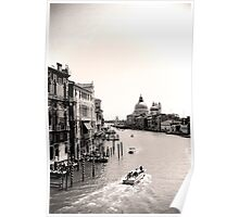 The Grand Canal, Venice, in black and white Poster