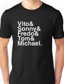 Vito & Sonny & Fredo & Tom & Michael (The Godfather) Unisex T-Shirt