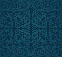 Etnic Pattern Blue by elangkarosingo