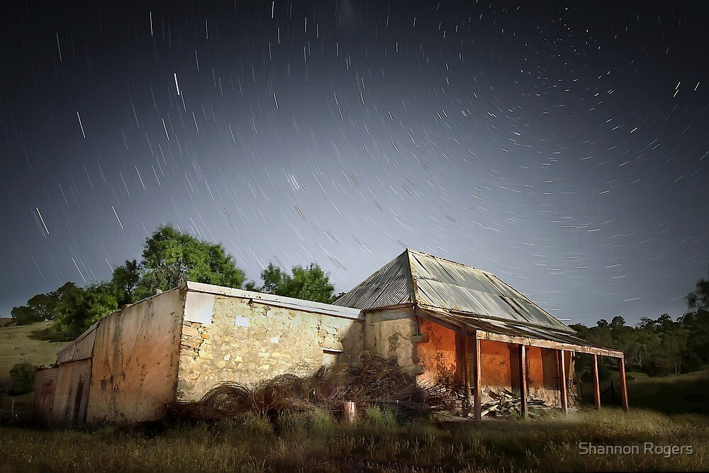 Star Trails Ruin by Shannon Rogers