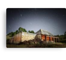 Star Trails Ruin Canvas Print
