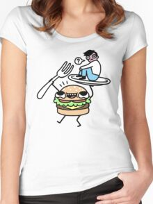 Dinner Is Served! Women's Fitted Scoop T-Shirt