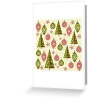 xmas print Greeting Card