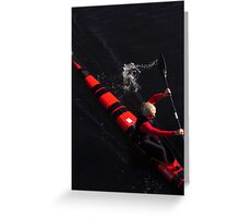 Red, Black and Blonde Greeting Card