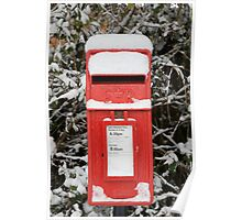 Snow covered post box Poster