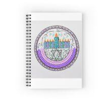 Haunkkah Menorah/2 - Feathers/1 Spiral Notebook