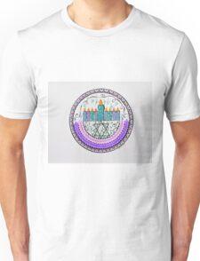 Haunkkah Menorah/2 - Feathers/1 Unisex T-Shirt