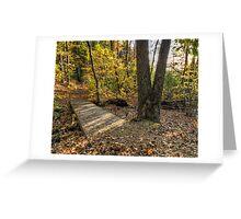 Leaves Cover Footbridge Greeting Card
