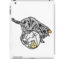 Playful Kitten on a Hamster Ball iPad Case/Skin