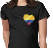 Columbian Flag - Columbia - Heart Womens Fitted T-Shirt