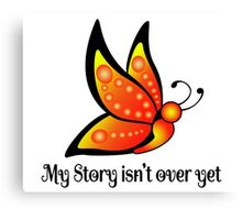 Semicolon Suicide Depression Awareness Butterfly Canvas Print