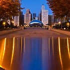 Down the aisle toward cloudgate by Sven Brogren