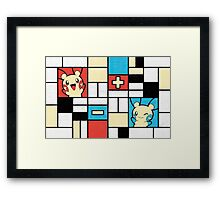 Composition with Positives and Negatives Framed Print