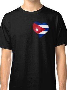 Cuban Flag - Cuba - Heart Classic T-Shirt