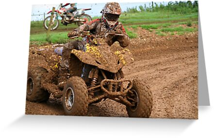 Quad bike on dirt track by NKSharp