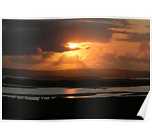River Moy Sunset Poster