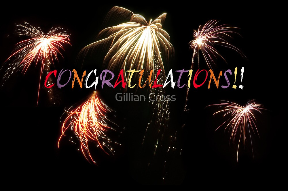 Congratulations greeting card. by Gillian Cross