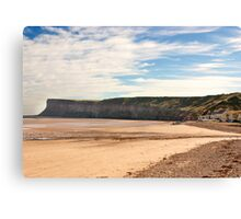 The Beach - Saltburn. Canvas Print