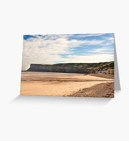 The Beach - Saltburn. Greeting Card