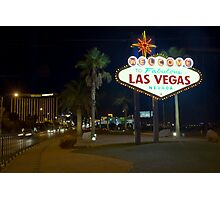 Welcome To Sin City Photographic Print