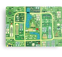 cartoon map of beijing Metal Print
