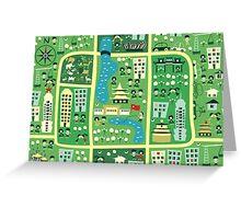 cartoon map of beijing Greeting Card