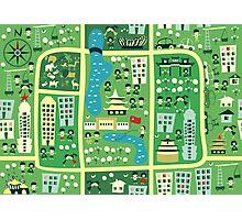 cartoon map of beijing Photographic Print