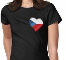 Czech Flag - Czech Republic - Heart Womens Fitted T-Shirt