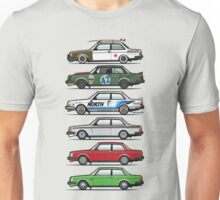 Stack Of Volvo 242 240 Series Brick Coupes Unisex T-Shirt