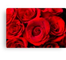 Red Rose Bouquet Dream Canvas Print