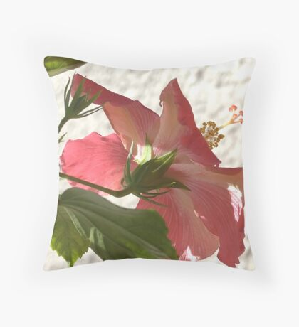 Averted Hibiscus Throw Pillow