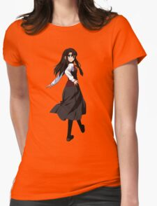Japanese High School Girl Womens Fitted T-Shirt