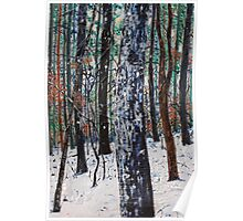 'Woods in Snow' Poster