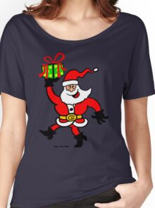 Santa Claus Brings a Gift Women's Relaxed Fit T-Shirt