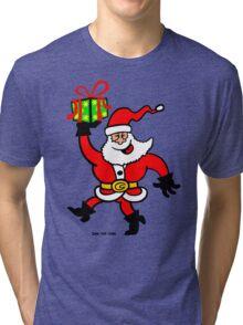 Santa Claus Brings a Gift Tri-blend T-Shirt