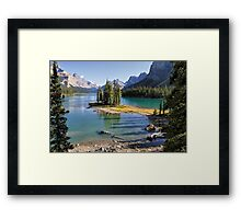 Famous Spirit Island on Maligne Lake, Jasper NP Framed Print