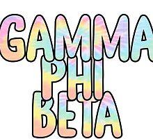 Gamma Phi Beta Sticker by indianastickies