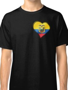 Ecuadorian Flag - Ecuador - Heart Classic T-Shirt