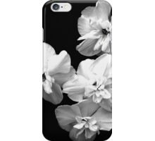 White on Black iPhone Case/Skin