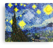 8-bit Starry Night Metal Print