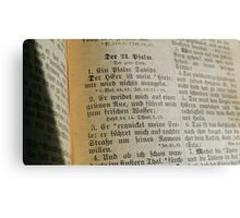 PSALMS 23 v. 1-3 - GERMAN Metal Print