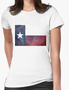 Texas Flag Nebula Womens Fitted T-Shirt