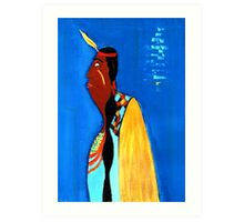 the falling feather Art Print