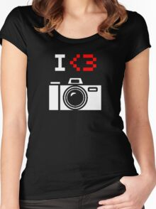 I Love Photography Camera Women's Fitted Scoop T-Shirt