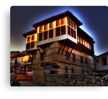 Traditional old house at Kastoria (Makedonia, Greece) Canvas Print