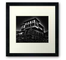 Black & white Traditional old house at Kastoria (Makedonia, Greece) Framed Print