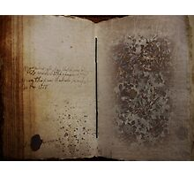The Book Photographic Print