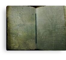 Book of Trees Canvas Print
